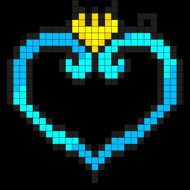 Kingdom Hearts Charm Perler Bead Pattern / Bead Sprite