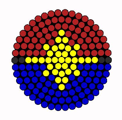 Captain Marvel Logo Perler Bead Pattern / Bead Sprite