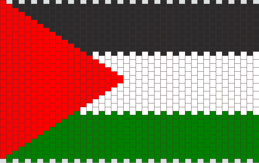 Palestine Flag Panel Bead Pattern