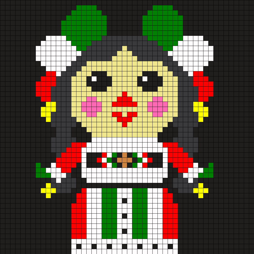 Mexican Dolly Perler Bead Pattern / Bead Sprite