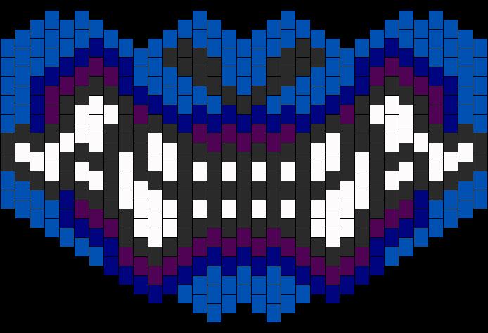 Samurai Mask Bead Pattern