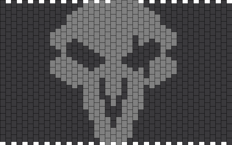 Overwatch Reaper Icon Bead Pattern