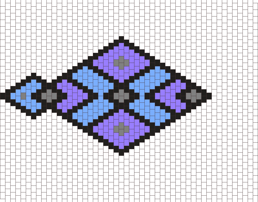 Fancy Diamonds Bead Pattern