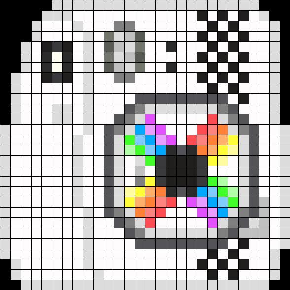Instax Camera Perler Bead Pattern / Bead Sprite