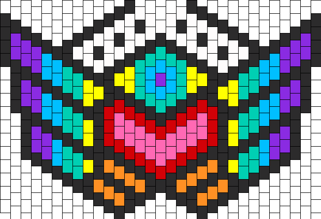 Rainbow Warrior Mask Bead Pattern Peyote Bead Patterns Misc Bead Magnificent Kandi Mask Patterns