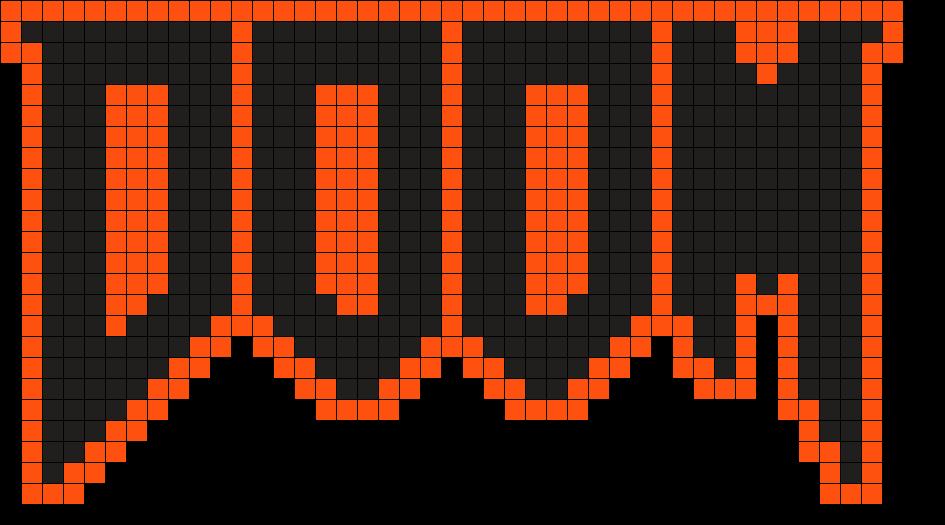 Doom Logo Perler