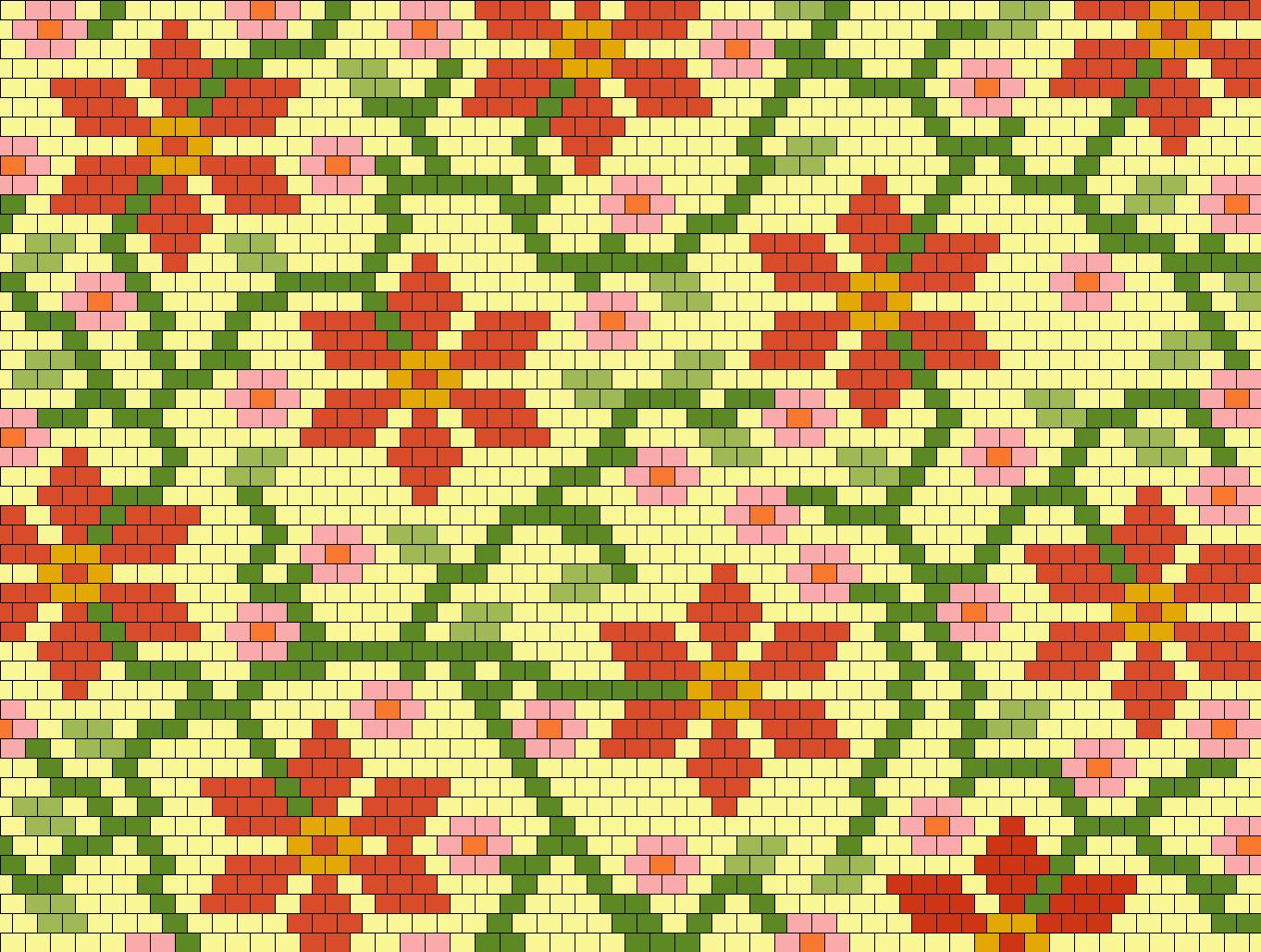 Autumn Flowers Bead Pattern
