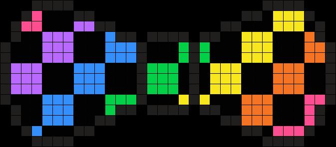 Rainbow Checkered Bowtie