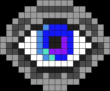 Eye Perler Perler Bead Pattern / Bead Sprite