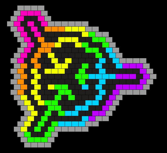 Rainbow/Black SCP Foundation Panel/Charm
