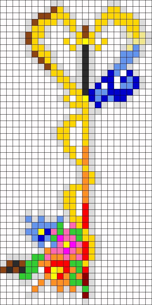 Kairi Key Blade Perler Bead Pattern / Bead Sprite