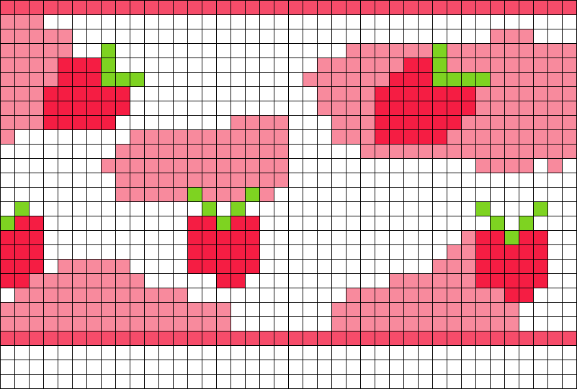 Strawberry Cow Corset (inspired B Xx Honey.demon Xx On Tiktok) Perler Bead Pattern / Bead Sprite