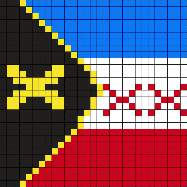 Lmanburg Flag Perler