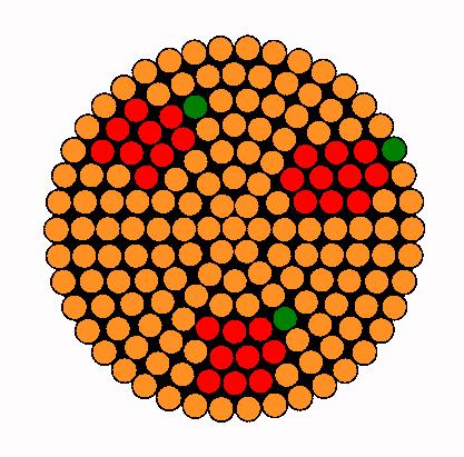 Coaster Apple Jack Perler Bead Pattern / Bead Sprite