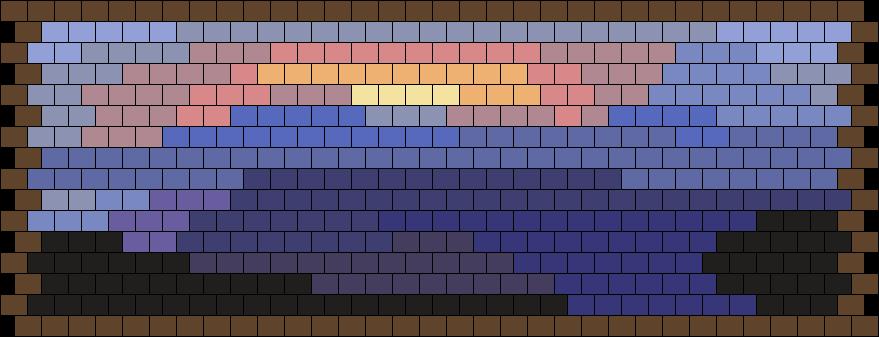 Minecraft Painting Sunset