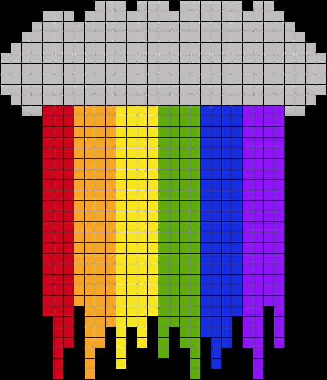 Cloud With Rainbow Drip