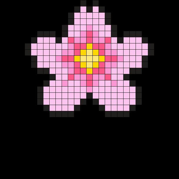 Sakura Perler Pattern