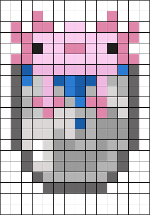 AXOLOTL Perler Bead Pattern / Bead Sprite