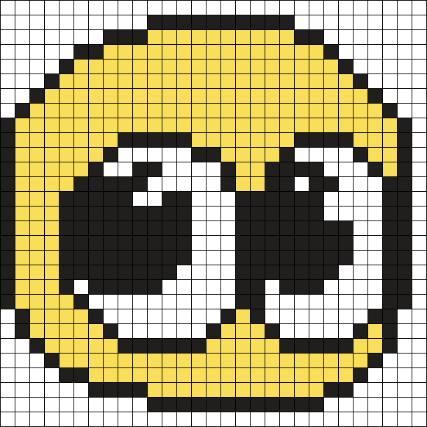 Cursed Emoji Perler Bead