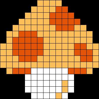 Mushroom Perler Perler Bead Pattern / Bead Sprite