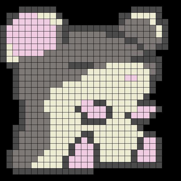 Fat Hamster Perler Sprite