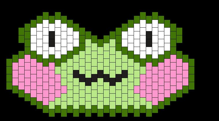36 X 15 Frog Face W/Blush Charm Multi