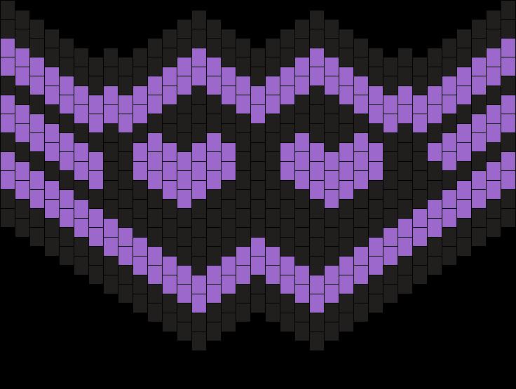 Purple Black Heart Mask