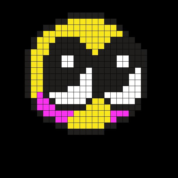 Blushing Emoji Perler
