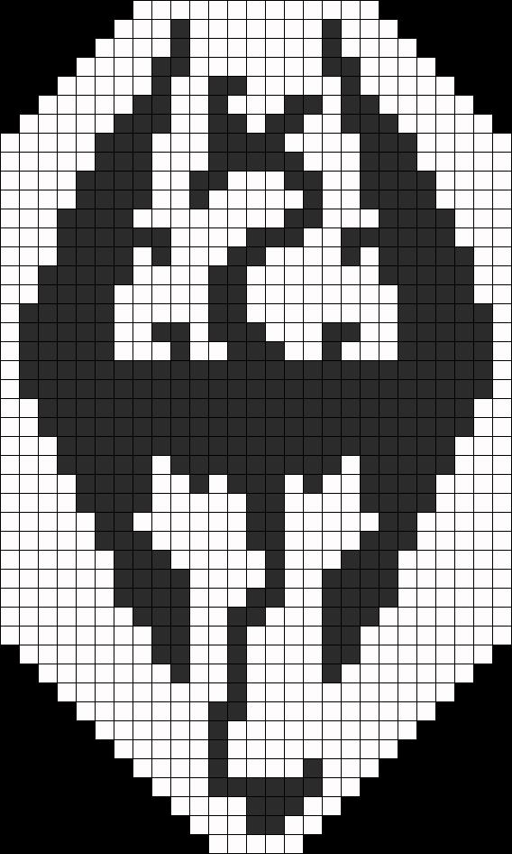 Skyrim Perler Bead Pattern