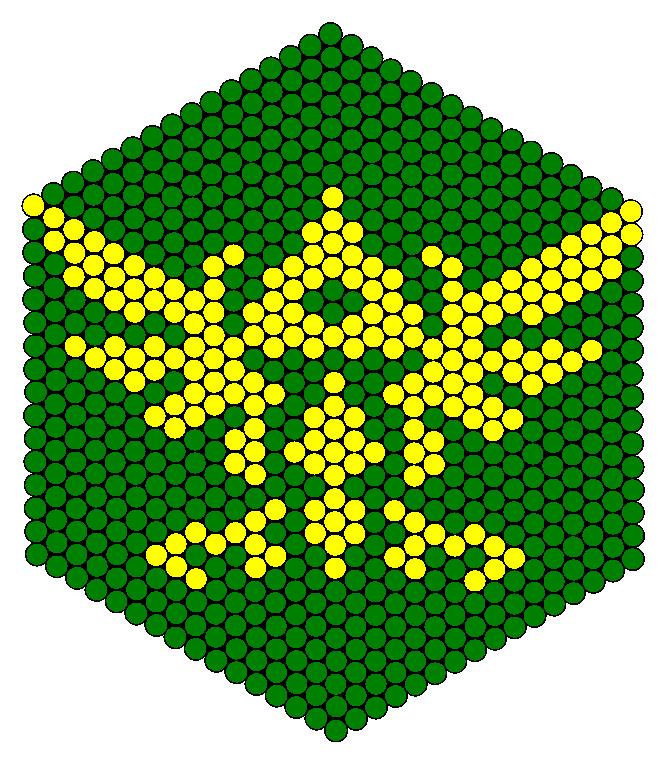Zelda Tri Force Perler Bead Pattern / Bead Sprite