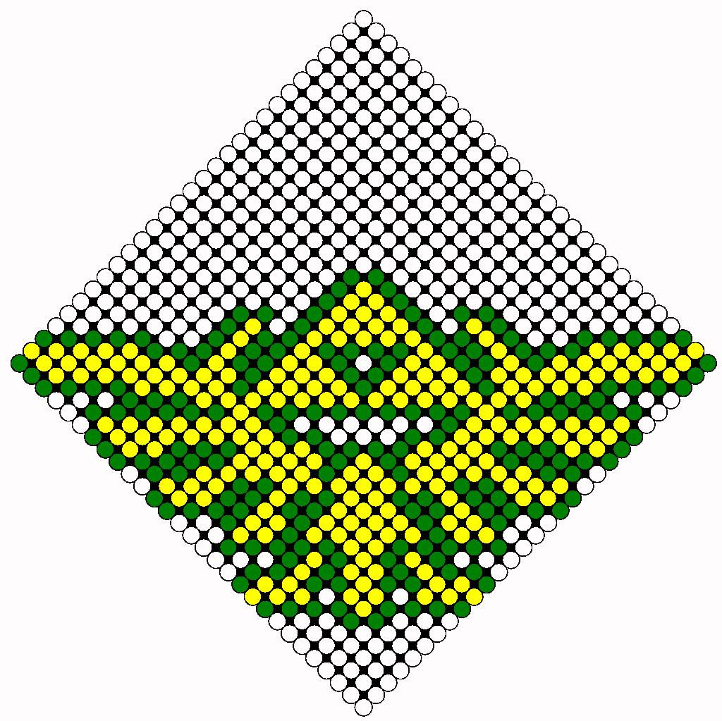 Zelda Tri Force 2 Perler Bead Pattern / Bead Sprite