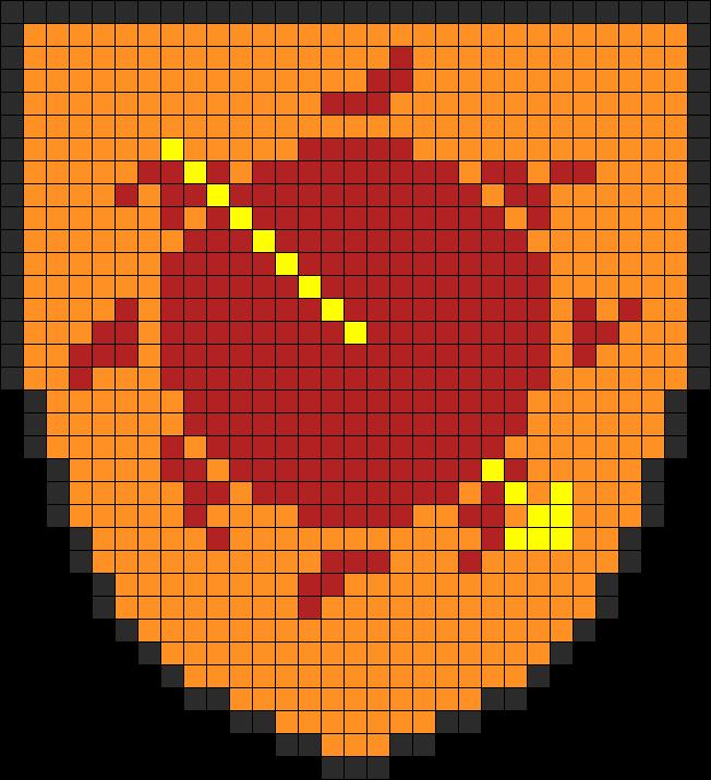 Game Of Thrones Martell Banner Perler Bead Pattern / Bead Sprite