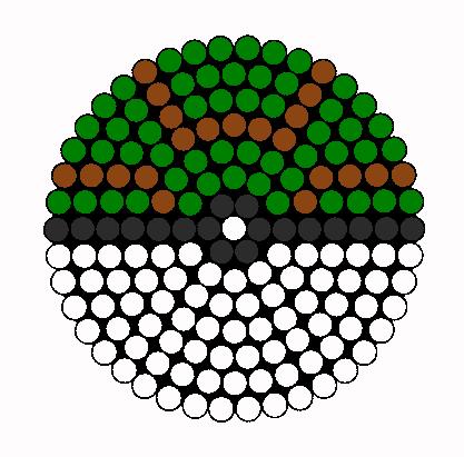 Nest Ball Perler Bead Pattern / Bead Sprite