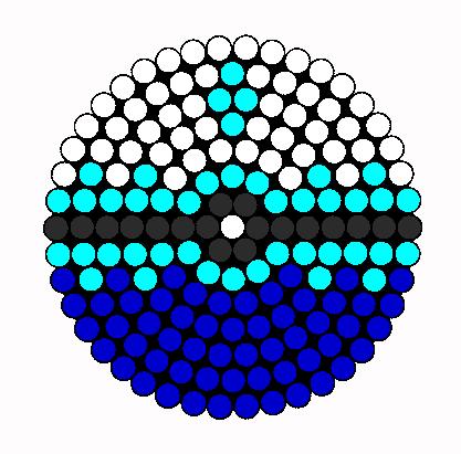 Dive Ball Perler Bead Pattern / Bead Sprite