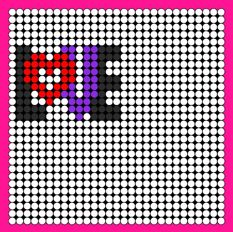 LOVE Perler Bead Pattern / Bead Sprite
