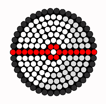 Premier Ball Sprite Perler Bead Pattern / Bead Sprite