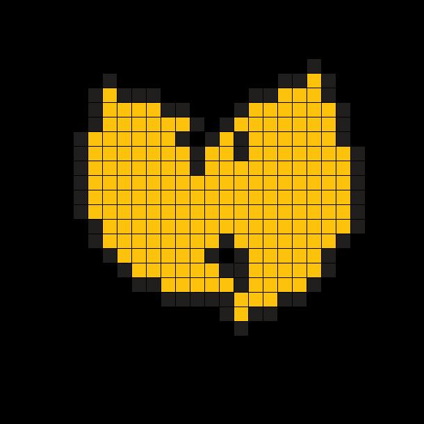 Wu Tang Logo Perler Bead Pattern / Bead Sprite