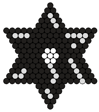 Ninja Throwing Star Perler Bead Pattern / Bead Sprite