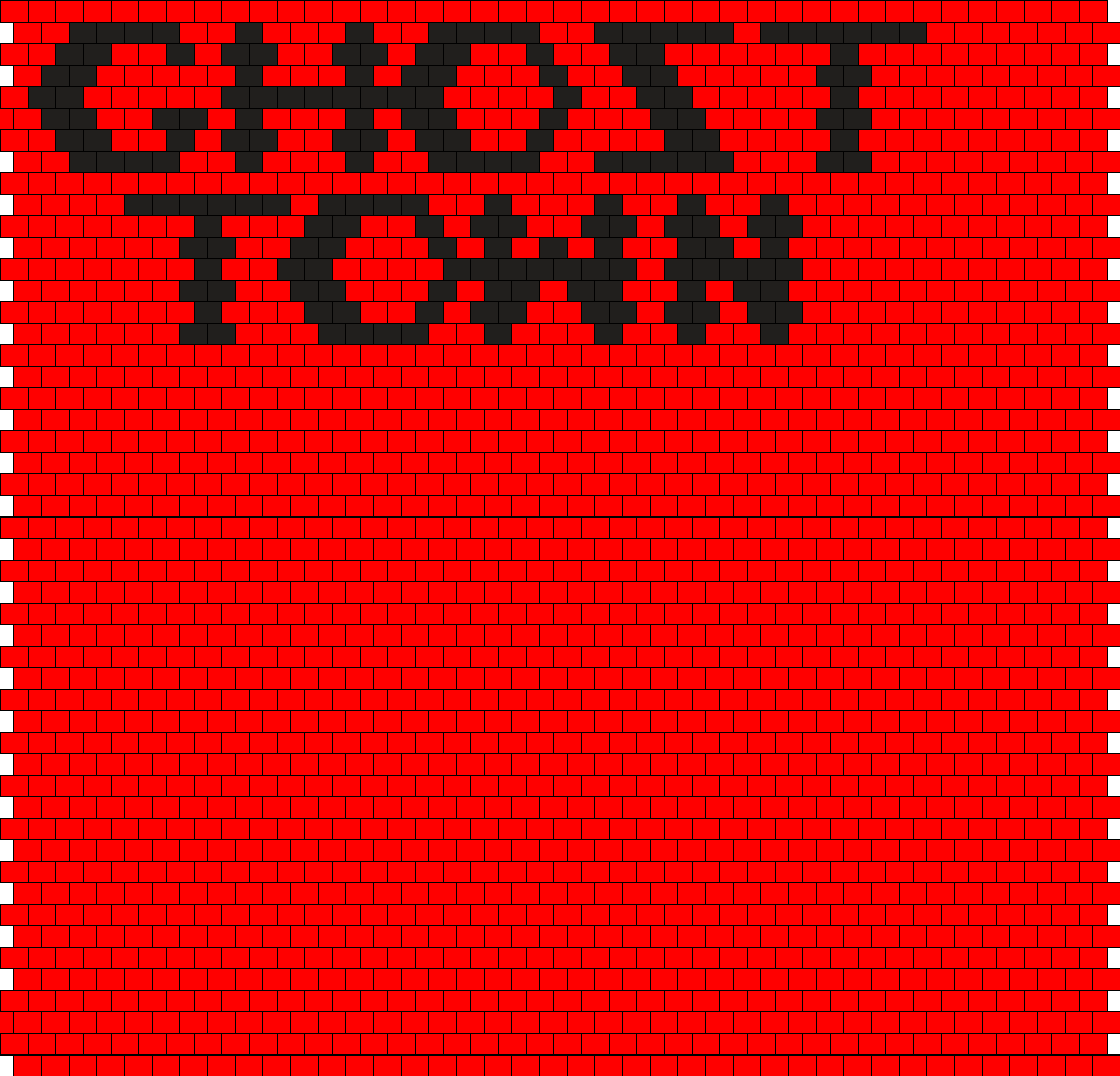 Ghost Town Front Panel  Bead Pattern