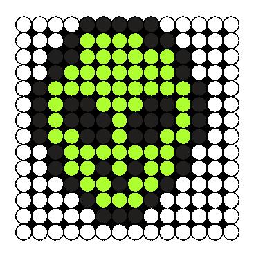 Mini Alien  Perler Bead Pattern / Bead Sprite