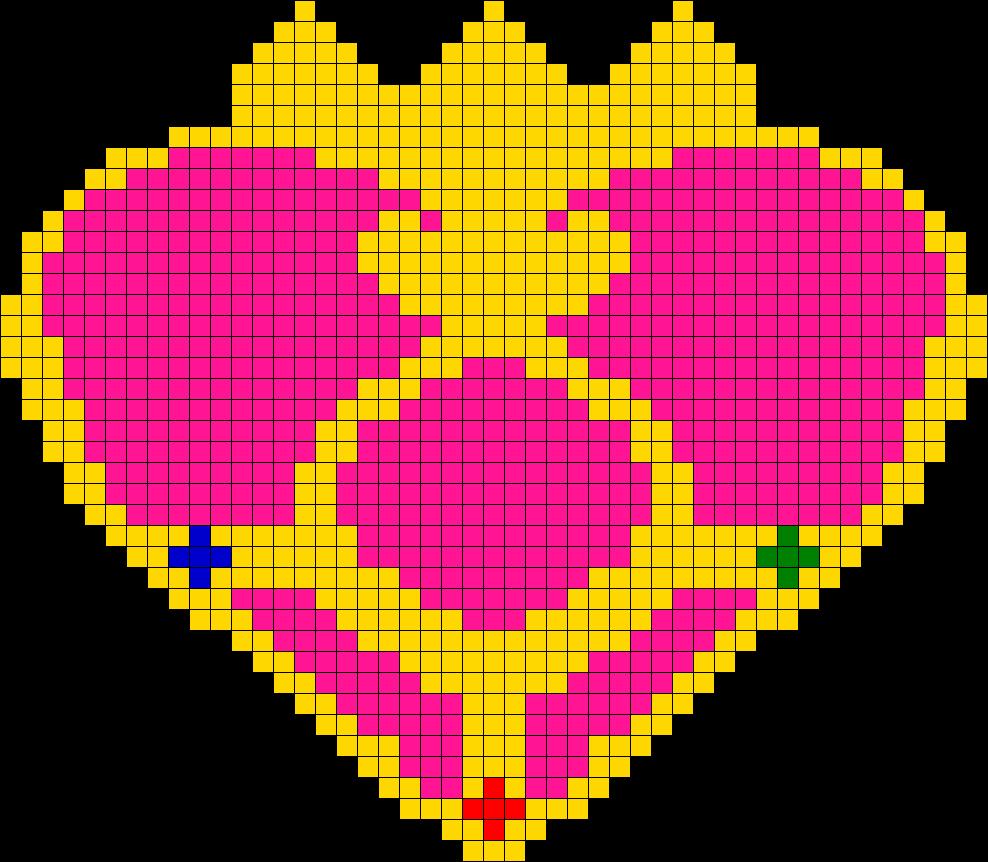 Sailor Moon Charm 03 Perler Bead Pattern / Bead Sprite
