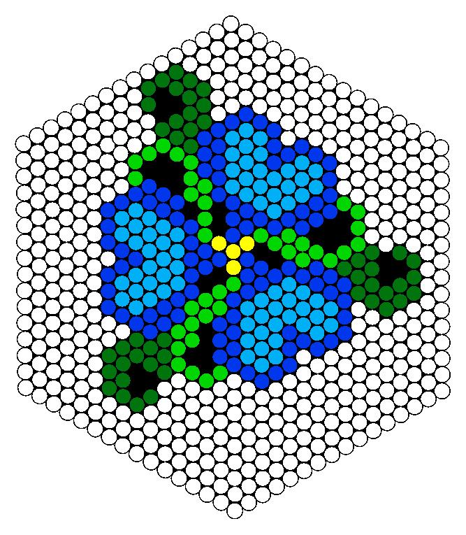Flower Design  Perler Bead Pattern / Bead Sprite