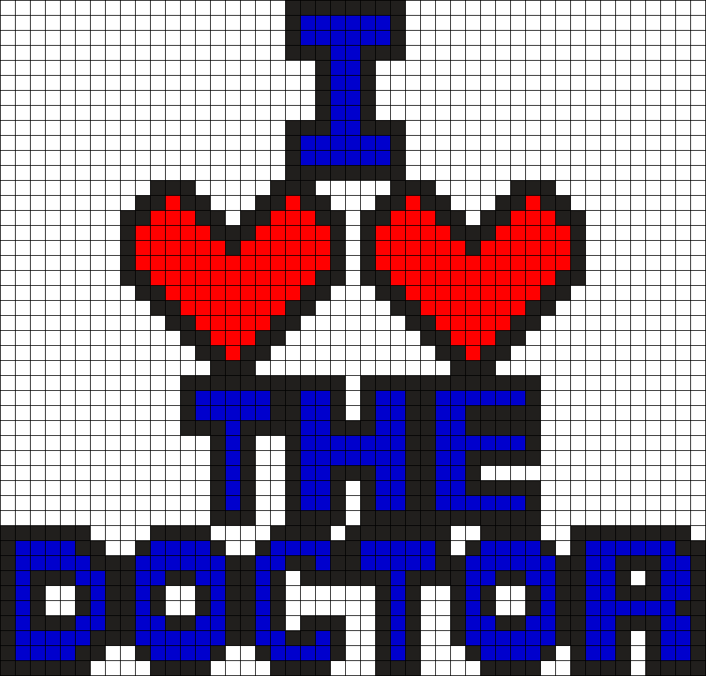 Doctor Who Heart The Doctor Perler Bead Pattern / Bead Sprite