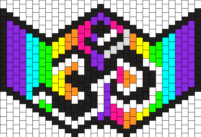 Rainbow Om Ninja Mask Bead Pattern