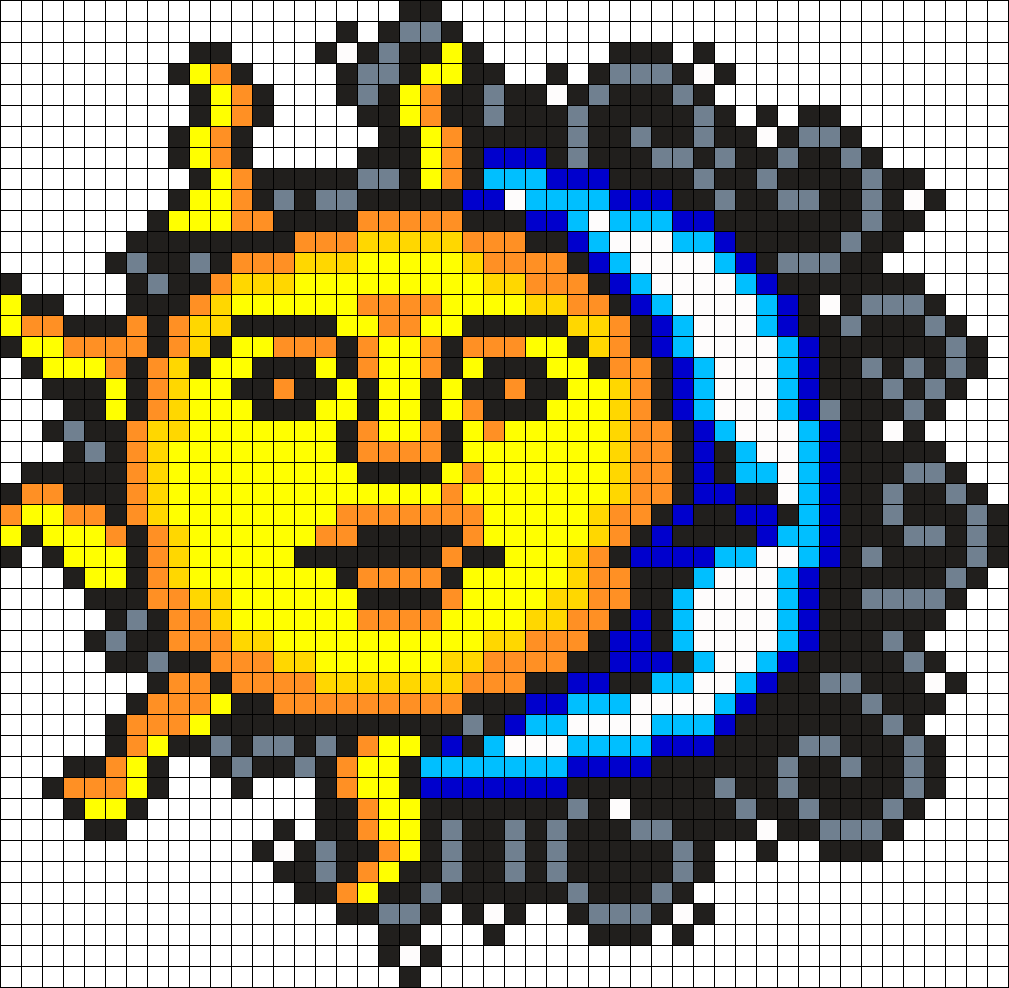 Sun And Moon Perler