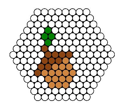 Acorn Perler Bead Pattern / Bead Sprite