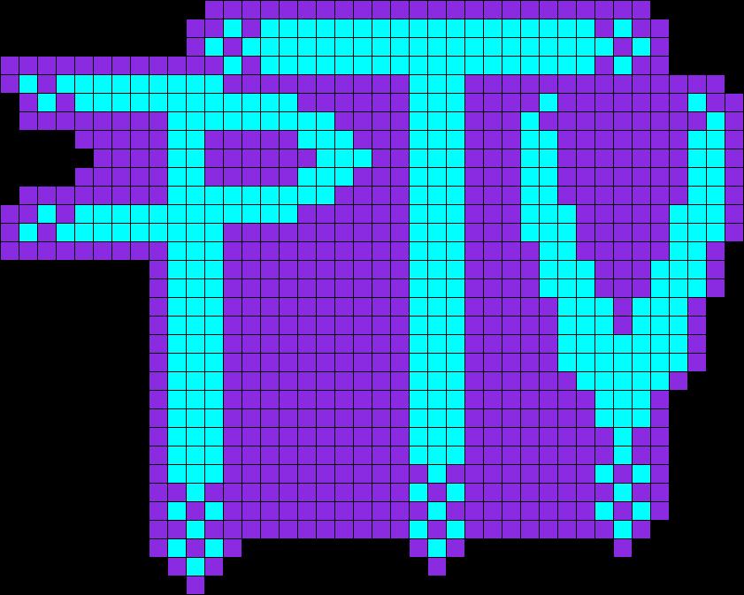Pierce The Veil Fade Logo Perler Bead Pattern / Bead Sprite