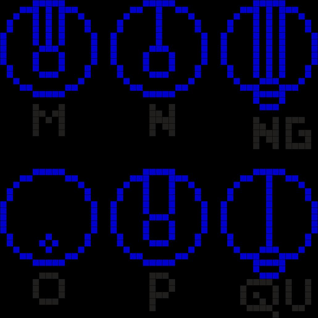 Gallofreyan Alphabet 3