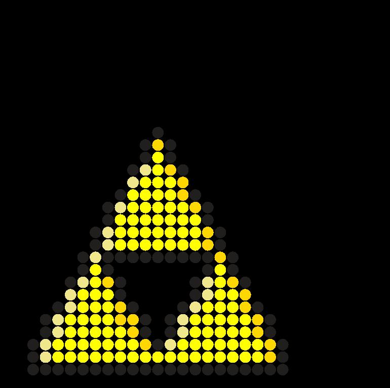 Zelda TriForce Perler Bead Pattern / Bead Sprite