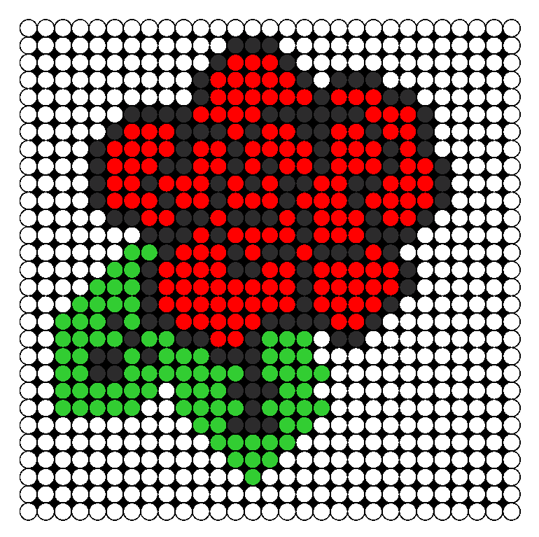 Rose Perler Bead Pattern / Bead Sprite